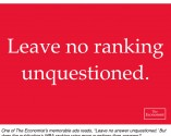 Economist - Leave no ranking unquestioned